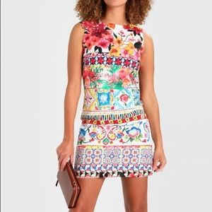 Desigual White Multicolor Floral Angelina Dress